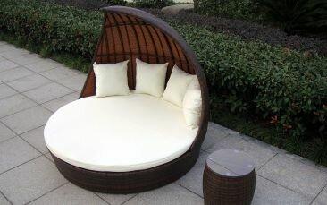 Rattan Lounge Baidani Doppelliege Fantasy