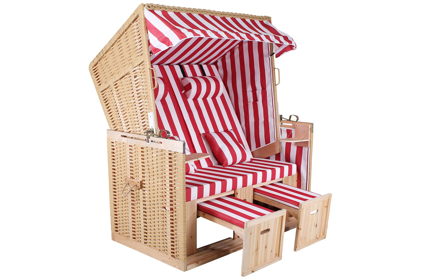 strandkorb sylt xl nordsee natur rot weiss trend shop baden. Black Bedroom Furniture Sets. Home Design Ideas